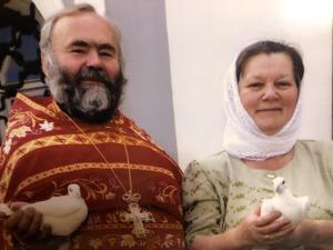 протоиерей Борис Токарев с матушкой Ольгой